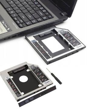 КАРМАН НА ВТОРОЙ ДИСК, РАМКА 2,5 HDD SSD SATA 12,7 доставка товаров из Польши и Allegro на русском