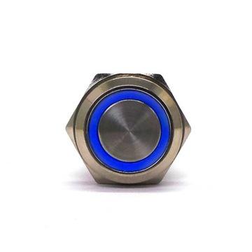 Włącznik On/Off zatrzaskowy LED 18mm Niebieski доставка товаров из Польши и Allegro на русском