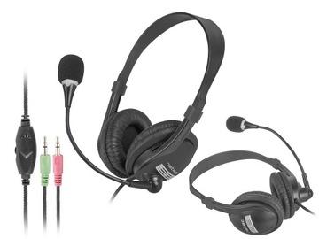 Słuchawki z mikrofonem laptop komputer biuro jack доставка товаров из Польши и Allegro на русском