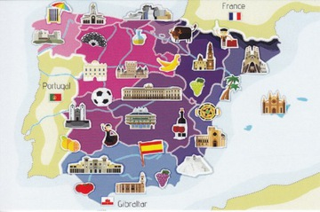 ИСПАНИЯ - КАРТА доставка товаров из Польши и Allegro на русском