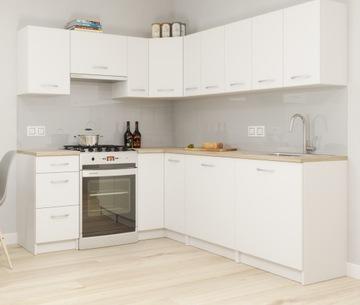 Комплект мебели для кухни Палермо Белый + Столешница доставка товаров из Польши и Allegro на русском