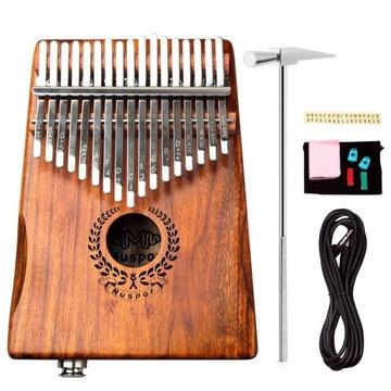 Kalimba Деревянный Портативный фортепиано 17 клавиш доставка товаров из Польши и Allegro на русском
