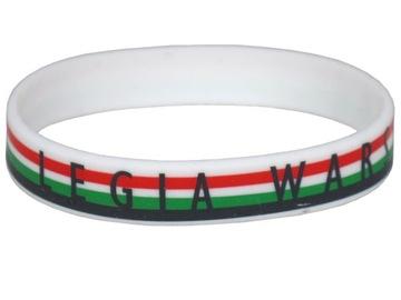 Bransoetka opaska gumowa Legia Warszawa