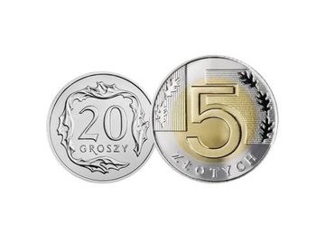 Komplet monet obiegowych 1996 r. UNC 2 sztuki доставка товаров из Польши и Allegro на русском