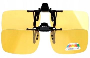 Поляризованные Солнцезащитные накладки для езды ночью желтые доставка товаров из Польши и Allegro на русском