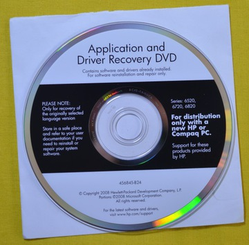 HP 6520 6720 6820 APLIKACJE I STEROWNIKI DVD доставка товаров из Польши и Allegro на русском