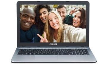 MOCNY LAPTOP ASUS 4 RDZENIOWY SSD256 Windows 10 доставка товаров из Польши и Allegro на русском