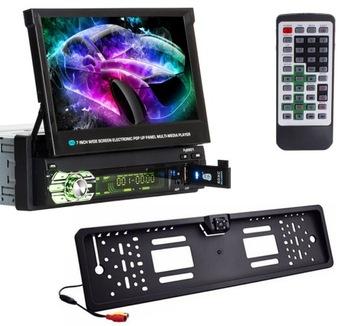 Автомагнитола ВЫДВИЖНОЙ ЭКРАН Bluetooth Камера доставка товаров из Польши и Allegro на русском