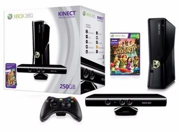 Консоль XBOX 360 Slim 250 GB + Kinect + Игра В-ва доставка товаров из Польши и Allegro на русском