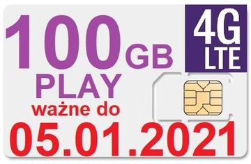 100 ГБ PLAY ИНТЕРНЕТ НА КАРТУ 3G LTE 30 ДНЕЙ доставка товаров из Польши и Allegro на русском