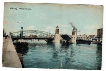 Открытка 1907 Щецин Мост Dworcowy доставка товаров из Польши и Allegro на русском