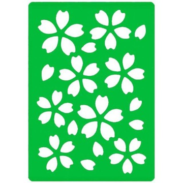 Декоративный ПЛАСТИКОВЫЙ ШАБЛОН Узоры Лепестки Цветок  доставка товаров из Польши и Allegro на русском