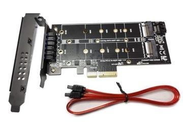 Адаптер m.2 DUAL SATA M. 2 NVME PCI-e 2210mm доставка товаров из Польши и Allegro на русском