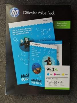 HP Комплект из 3 туши 953XL + бумага A4, 80Г,180Г ПУСТЫЕ доставка товаров из Польши и Allegro на русском