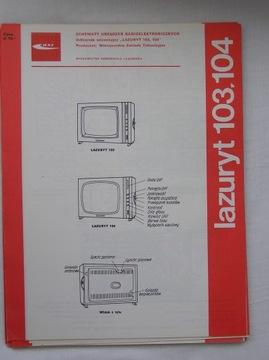 ODBIORNIK TELEWIZYJNY LAZURYT 103 104 INSTRUKCJA доставка товаров из Польши и Allegro на русском