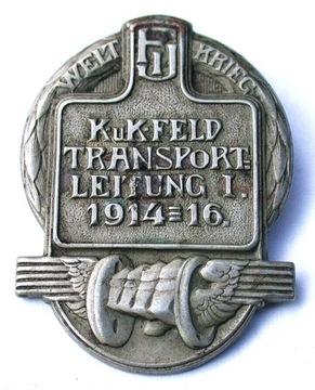 Значок Kappenabzaichen Transportleitung I 1914-16  доставка товаров из Польши и Allegro на русском