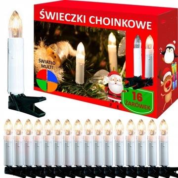 Lampki choinkowe ŚWIECZKI tradycyjne PRL 16 szt доставка товаров из Польши и Allegro на русском