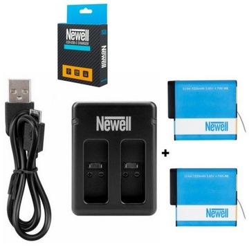 Ньюэлл Зарядное устройство+2x аккумулятор для GoPro HERO 7 6 5 доставка товаров из Польши и Allegro на русском