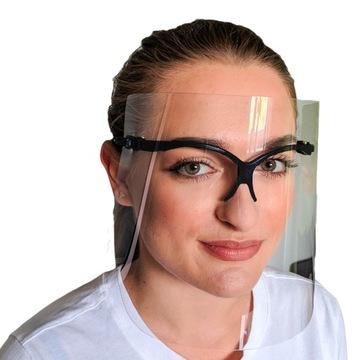Козырек защитная маска оболочка для лица PRO-TECT доставка товаров из Польши и Allegro на русском