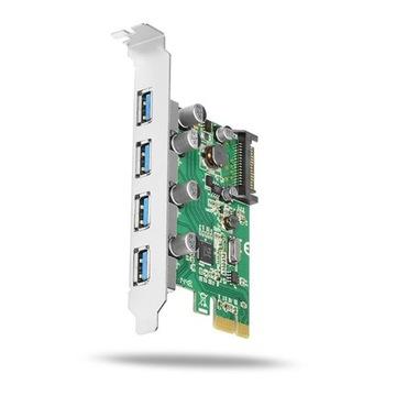 (Axago PCEU-430V контроллер PCI-Express 4x USB 3.0) доставка товаров из Польши и Allegro на русском
