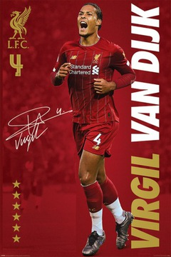 Liverpool FC Virgil Van Dijk Плакат 61x91,5 см доставка товаров из Польши и Allegro на русском