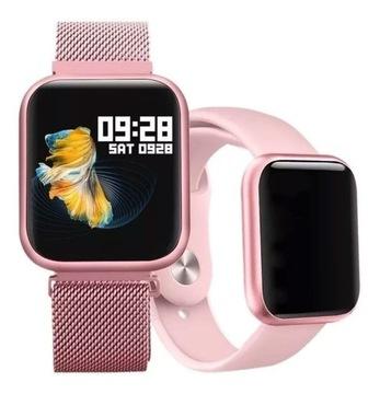 Zegarek Damski Smartwatch Różowy Pulsometr P70