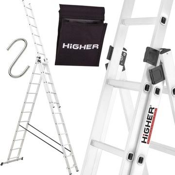 Drabina aluminiowa 3x11 HIGHER Professional 8 45m