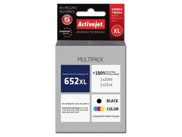 ЧЕРНИЛА ActiveJet HP 652XL BK/C НОВЫЙ КОМПЛЕКТ XL доставка товаров из Польши и Allegro на русском