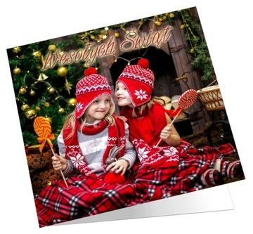 ФОТО РОЖДЕСТВЕНСКАЯ ОТКРЫТКА с фото + конверт доставка товаров из Польши и Allegro на русском