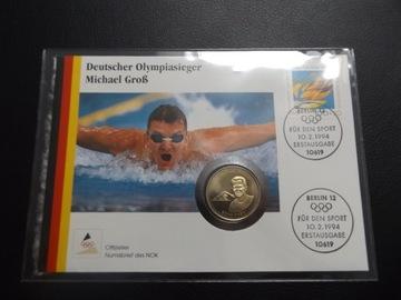 Niemcy|Koperta|1994|Michael Gros mistrz Olimpijski доставка товаров из Польши и Allegro на русском