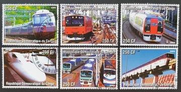 T.0904 Znaczki seria KOLEJNICTWO pociagi I Congo доставка товаров из Польши и Allegro на русском