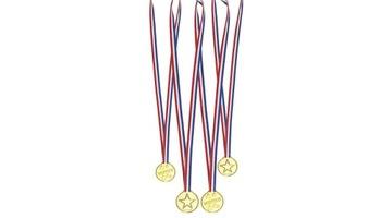 Boland 30818 4 medaliki medale, złote доставка товаров из Польши и Allegro на русском