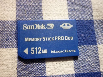 Karta pamięci SanDisk Memory STICK PRO DUO 512MB доставка товаров из Польши и Allegro на русском