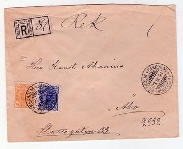 Stara bardzo ładna koperta z Finlandi 1894 r доставка товаров из Польши и Allegro на русском