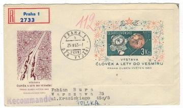 FDC Чехословакия 1963 Марки Блок 19 космос  доставка товаров из Польши и Allegro на русском