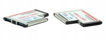 КАРТА EXPRESS CARD HUB 2x USB 3.0 КОНТРОЛЛЕР 54 доставка товаров из Польши и Allegro на русском