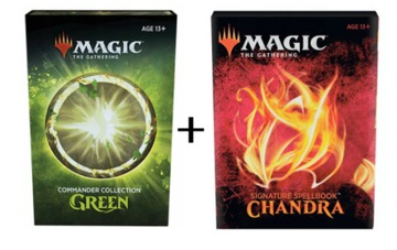 Commander Green + SpellBook Chandra PROMO PACK! доставка товаров из Польши и Allegro на русском