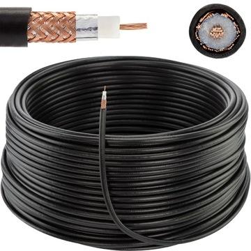 Коаксиальный кабель H155, трос 50 ом WLAN CB 50м доставка товаров из Польши и Allegro на русском