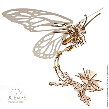 Бабочка Модель механический к участию в Ugears дерево доставка товаров из Польши и Allegro на русском