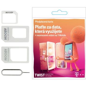 Czeska Karta Sim T-mobile BEZ REJESTRACJI +ADAPTER доставка товаров из Польши и Allegro на русском