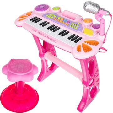 Клавиатура Фортепиано для детей Орган Микрофон Табурет доставка товаров из Польши и Allegro на русском