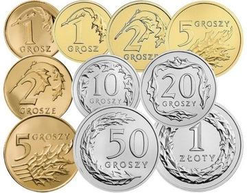 Комплект циркуляционных монет 2013 года. UNC 10 штук доставка товаров из Польши и Allegro на русском