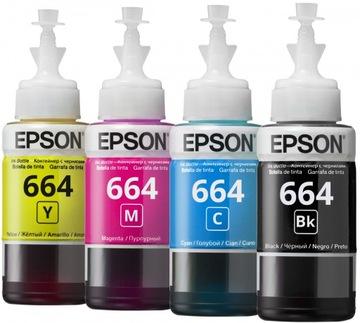 КОМПЛЕКТ ЧЕРНИЛ EPSON 664 T6641 T6643 T6644 оригинал доставка товаров из Польши и Allegro на русском