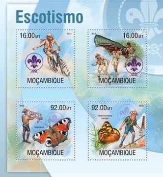 Скаутинг скауты, бабочки, велосипед, Мозамбик #99MOZ13302a доставка товаров из Польши и Allegro на русском