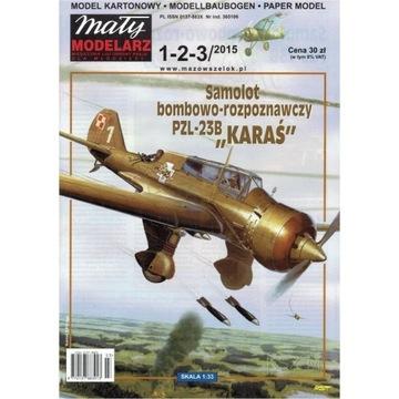 Маленький Модельер 1-2-3/15 - PZL-23 Б Карась 1:33 доставка товаров из Польши и Allegro на русском