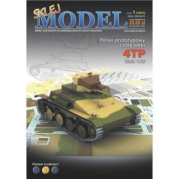 Соберите Модель 1 - Польский легкий танк 4TP 1:25 доставка товаров из Польши и Allegro на русском