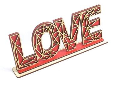 ДЕКОР АЖУРНЫЕ LOVE на ПОДСТАВКЕ В ПОДАРОК QR83 доставка товаров из Польши и Allegro на русском