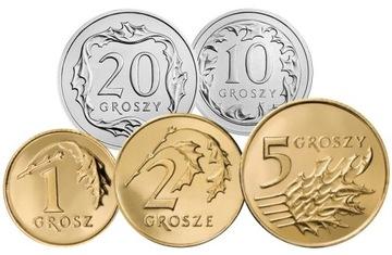 Комплект циркуляционных монет 2002 года. UNC 5 штук доставка товаров из Польши и Allegro на русском