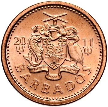 Барбадос - монета - 1 Цент 2011 Года - Состояние UNC доставка товаров из Польши и Allegro на русском