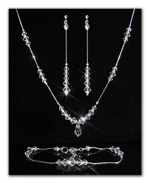Komplet ślubny z kryształów Swarovski Crystal